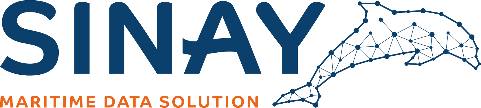 The Sinay logo representing a dolphin