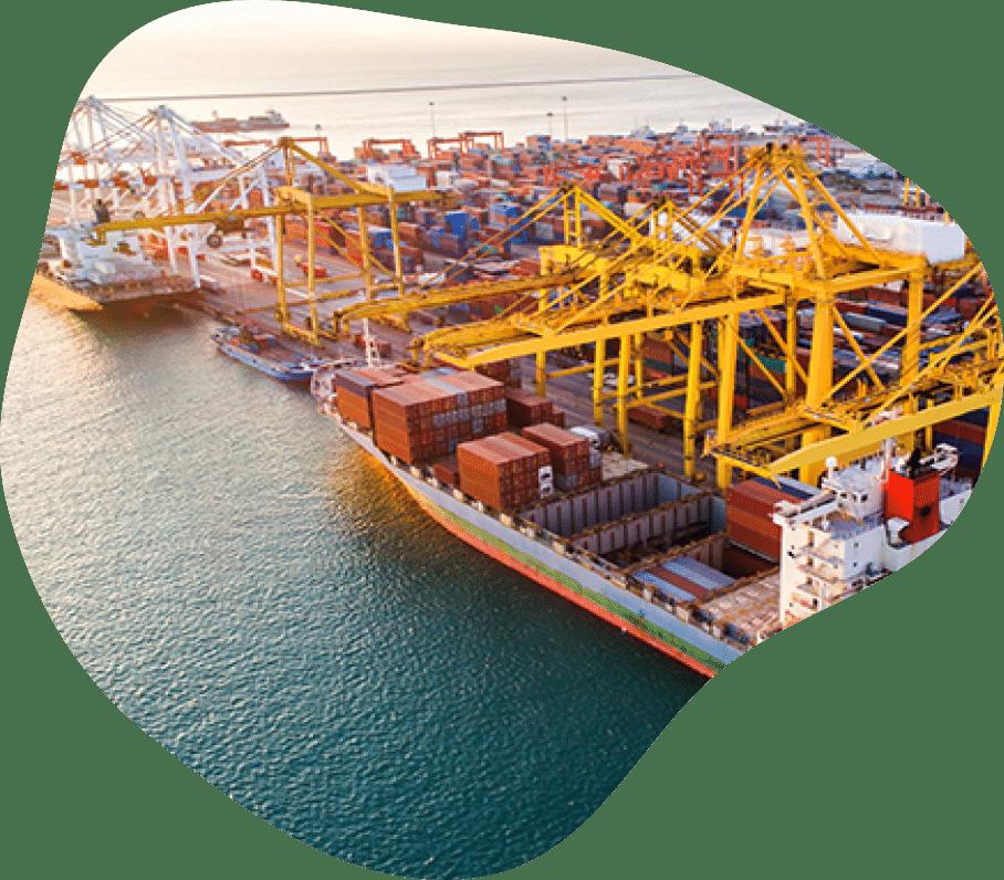 container cranes port logistic