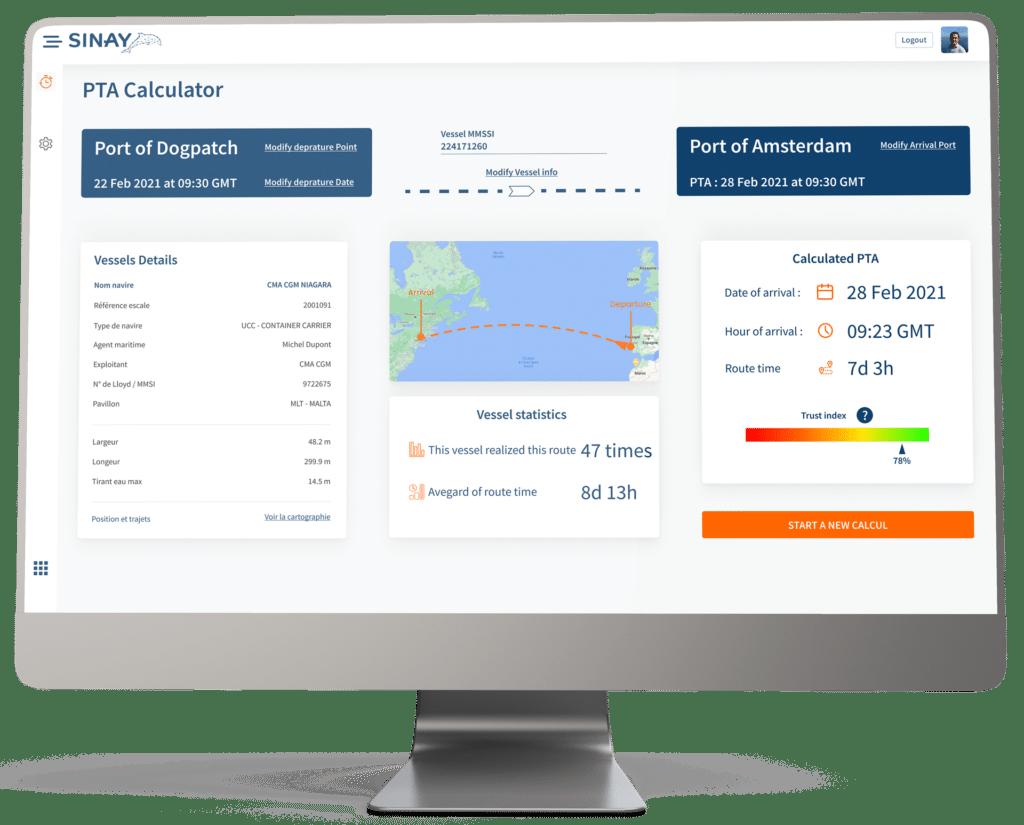 eta calculation between ports